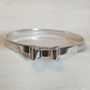 Kate Spade Silver Bow Bangle Bracelet